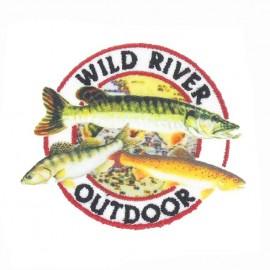 Wild River Outdoor iron-on applique - white