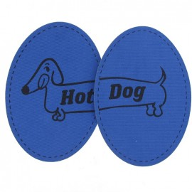 Coudières Genouillères Hot Dog indigo velours