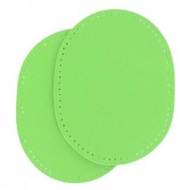Coudières Genouillères cuir artificiel vert