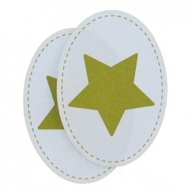 Jersey Elbow and knee patch with a bronze star - light blue