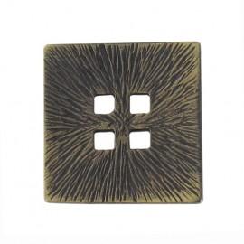 Bouton métal carré doré