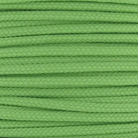Cordon polyester 2mm vert amande