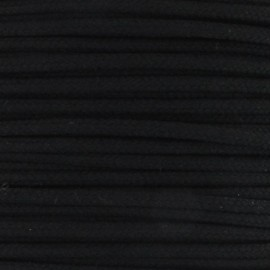 Cordon polyester 2mm noir