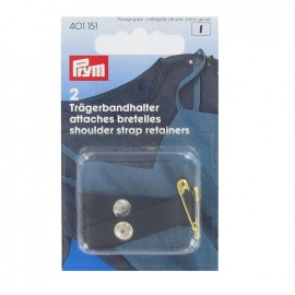 Shoulder strap retainers with safety pin - black
