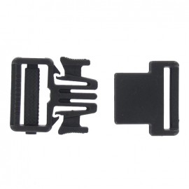 Easy & thin side release buckle Sport 25 mm - black