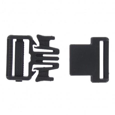 Easy & thin side release buckle Sport 25 mm - black