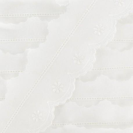 Broderie anglaise blanche Fleurette 4.5 cm