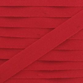 Ruban Sergé couleur 14mm rouge