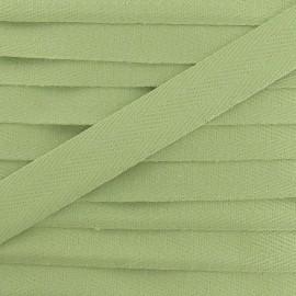 Ruban Sergé couleur 14mm vert amande