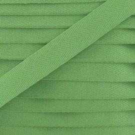 Ruban Sergé couleur 14mm vert