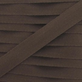 Twill ribbon - chocolate
