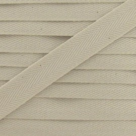 Twill ribbon - light beige