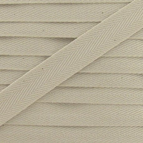 Ruban Sergé couleur 14mm beige clair