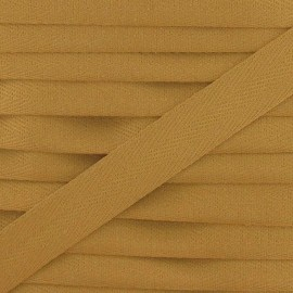 Twill ribbon - reddish-brown