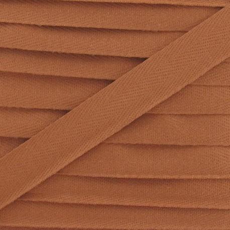 Ruban Sergé couleur 14mm auburn