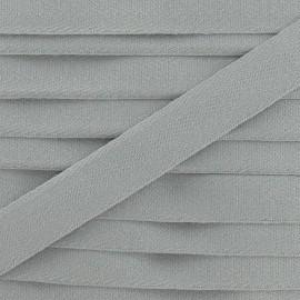 Ruban Sergé couleur gris clair