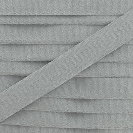 Ruban Sergé couleur 14mm gris clair