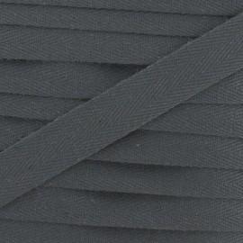 Twill ribbon - grey