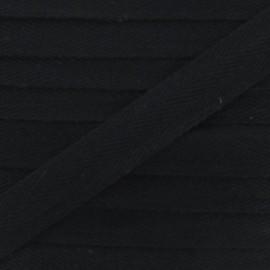 Ruban Sergé couleur noir