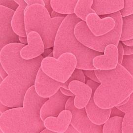 Kit autocollants coeurs feutrine Pink
