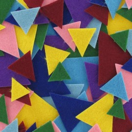 Felt-fabric kit of triangle-shaped Stickers - multicolored