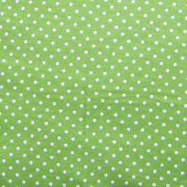 Tissu petits pois vert x 10cm