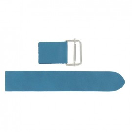 Leather strap with sliding bar adjuster buckle Caspio - blue