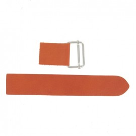 Leather strap with sliding bar adjuster buckle Corail - coral