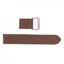 Leather strap with sliding bar adjuster buckle Marrone - brown
