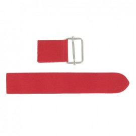 Leather strap with sliding bar adjuster buckle Rosso V2 - red