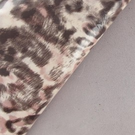 Vinyl Leopard Leather - Pale Pink (2 sizes)