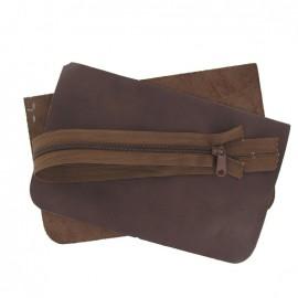 Kit grande pochette cuir Chocolat