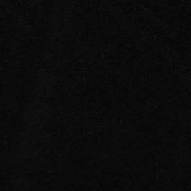 Tissu velours éponge jersey noir x 10 cm
