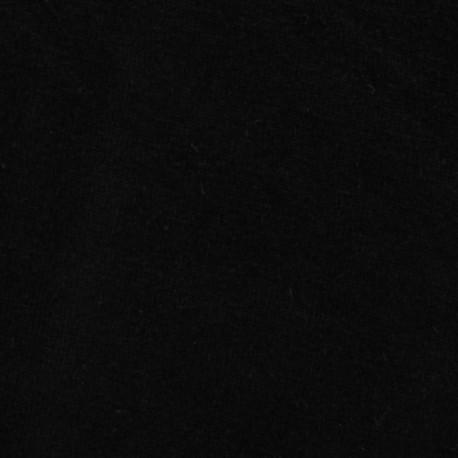 Jersey sponge velvet fabric - black x 10cm