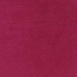 Tissu velours éponge jersey frambroise x 10 cm