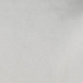 Tissu velours éponge jersey gris perle x 10 cm