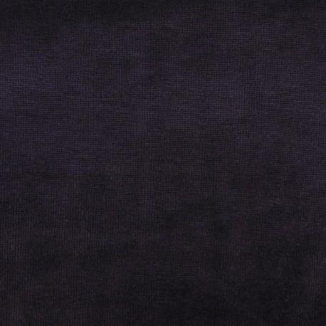 Tissu velours éponge jersey violet x 10 cm