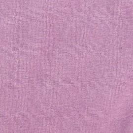 Tissu velours éponge jersey orchidée x 10 cm