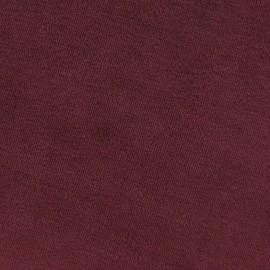 Tissu velours éponge jersey grenat x 10 cm