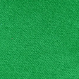 Tissu velours éponge jersey vert prairie x 10 cm