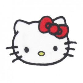 Hello Kitty C iron-on applique - multicolored