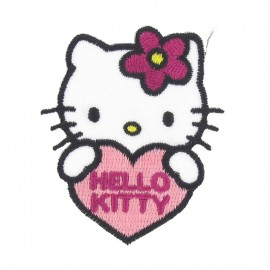 Hello Kitty B iron-on applique - multicolored