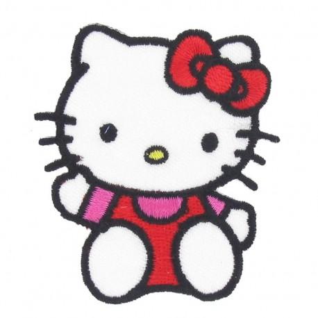 Hello Kitty A iron-on applique - multicolored