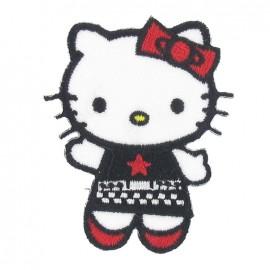 Hello Kitty E iron-on applique - multicolored