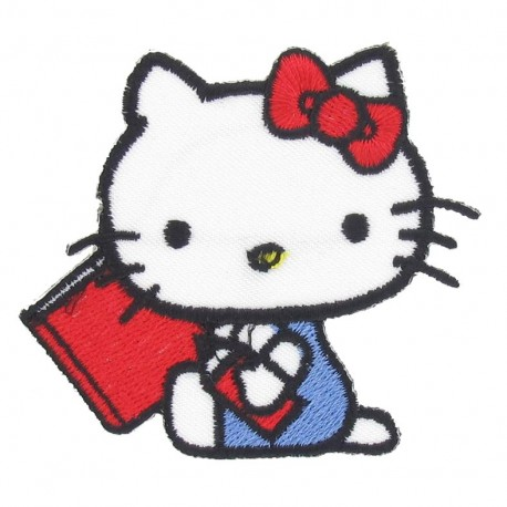 Hello Kitty D iron-on applique - multicolored
