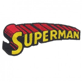 Embroidered Superman's Name iron-on applique - red
