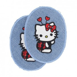 Elbow and knee patch Hello Kitty, hearts - multicolored