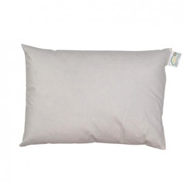 Rectangular-shaped goose/duck feather-padding 35 cm x 50 cm cushion - white