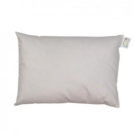 Rectangular-shaped goose/duck feather-padding 35 cm x 50 cm cushion - white