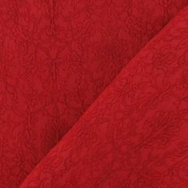 Tissu Damassé Royal rouge x 10cm